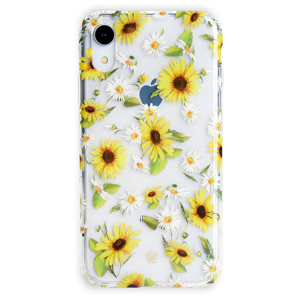 best service 0ae53 8cf50 Sunflower Daisy Clear iPhone Case