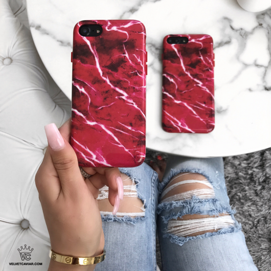 buy popular 376fe f6e12 Red Velvet Marble iPhone Case