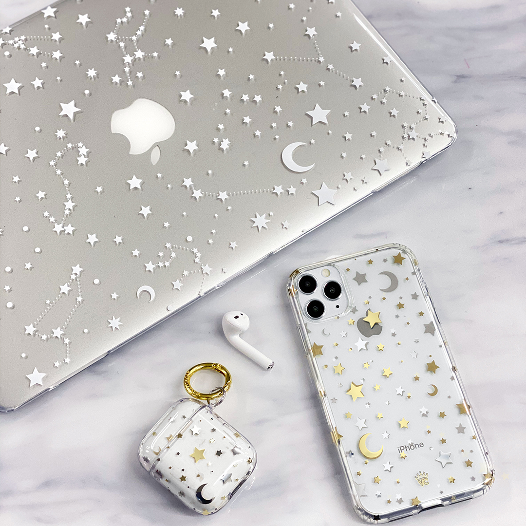 White Stars MacBook Case