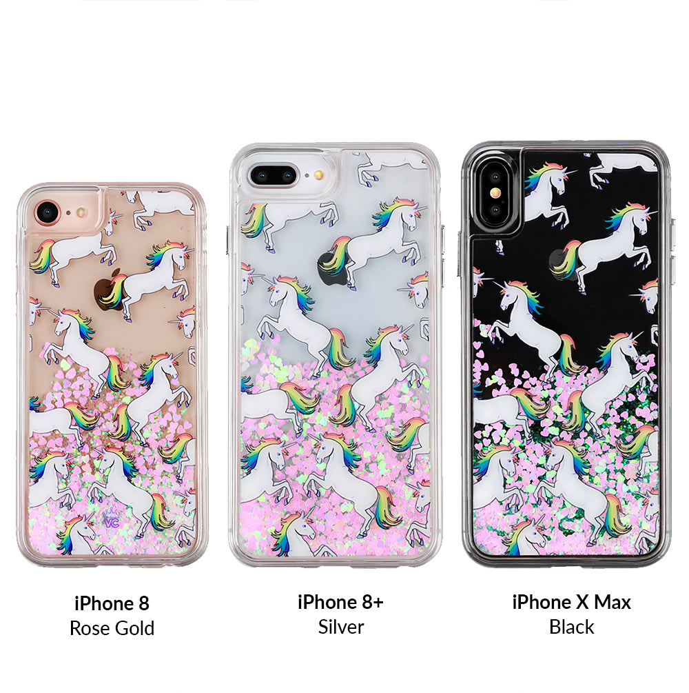 more photos ac808 9b18c Unicorn Glitter iPhone Case