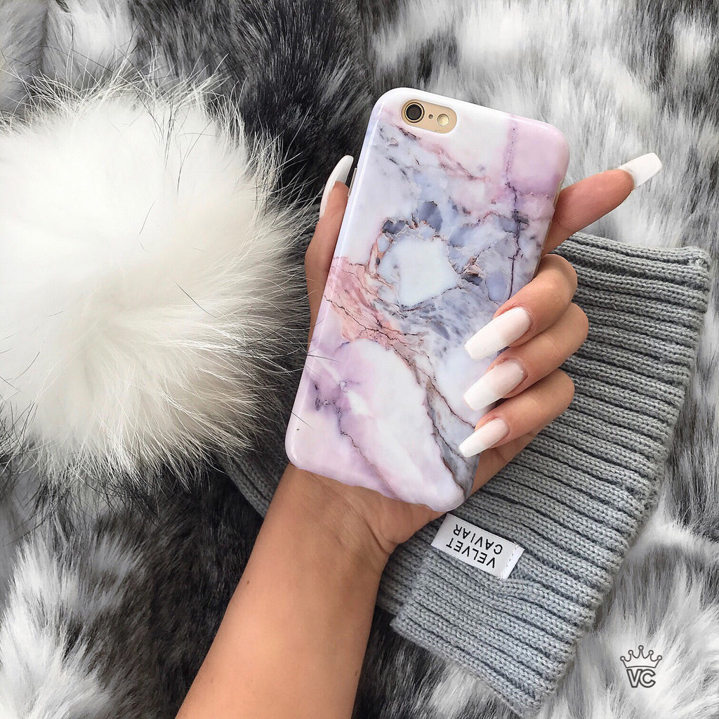 Violet Sky Marble iPhone Case