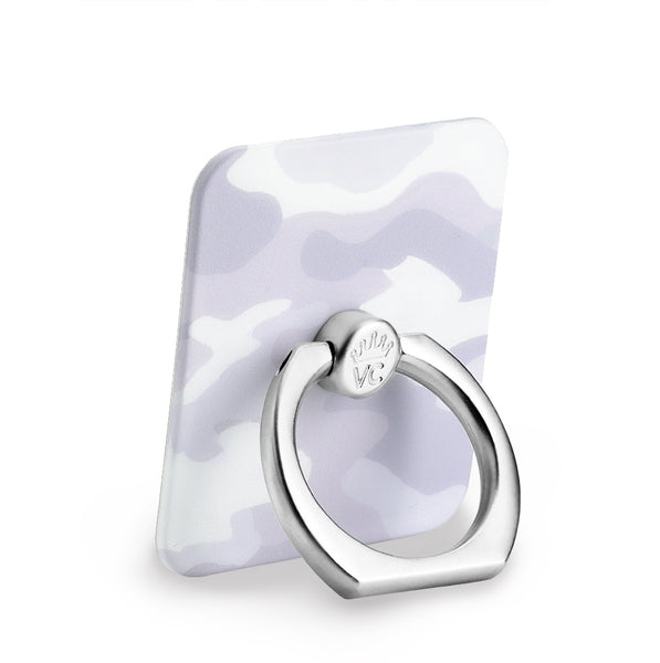 White Clouds Camo Phone Ring