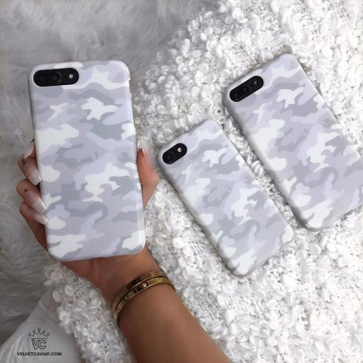 buy online 15f0f 054c9 White Clouds Camo iPhone Case