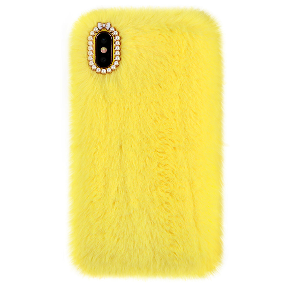 the latest 1ad1e 548fb Yellow Faux Fur iPhone Case by Carli Bybel – VelvetCaviar.com