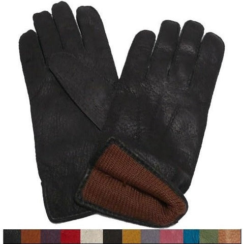 Ladies Baby Alpaca-lined Peccary Classic Leather Gloves