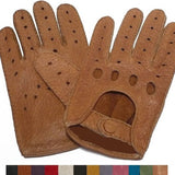 Mens Classic Peccary Leather Driving Gloves