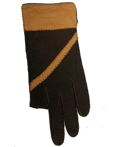 Lady's peccary leather full finger and half finge gloves