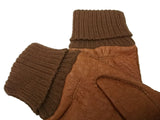 Men's peccary leather alpaca cuff unlined gloves