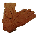Mens peccary leather unlined riding gloves