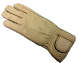 Ladies peccary leather baby alpaca-lined riding gloves