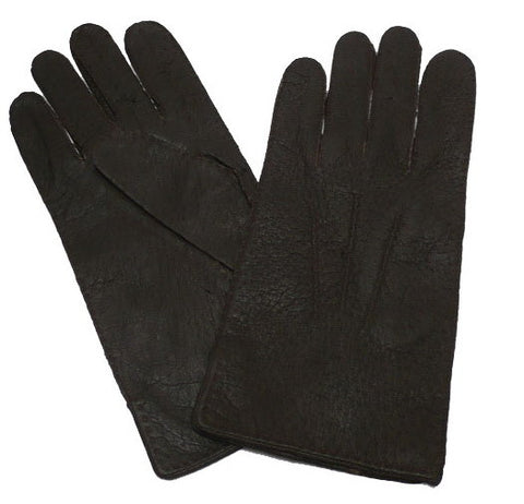 Mens Baby Alpaca-lined Peccary Classic Leather Gloves