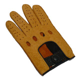 Ladies 2-Tone Peccary Leather Driving Gloves