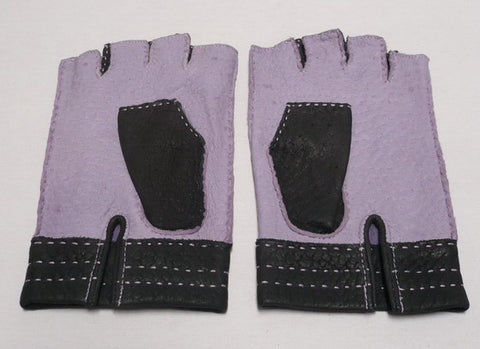 Lady's peccary leather half finger gloves
