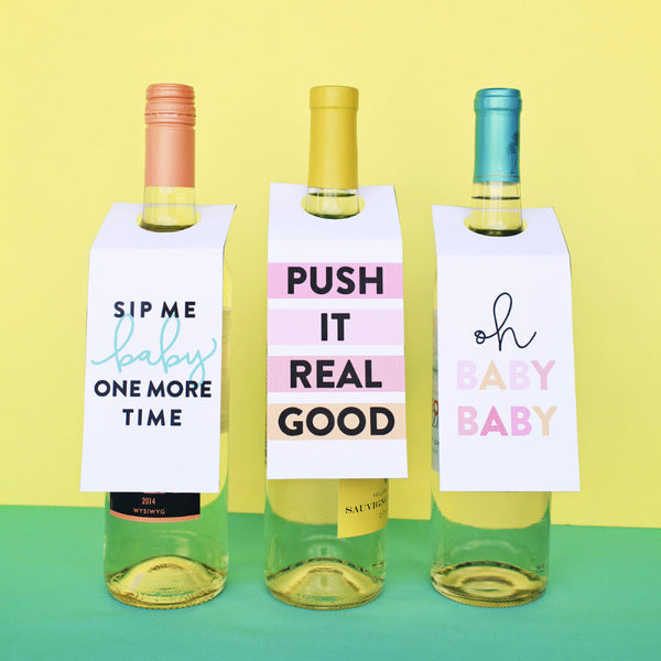 Baby Shower Wine Tags: Free Printable