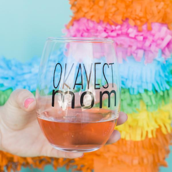 Okayest Mom Glass (A BGD + Okayest Moms Blog Collaboration)