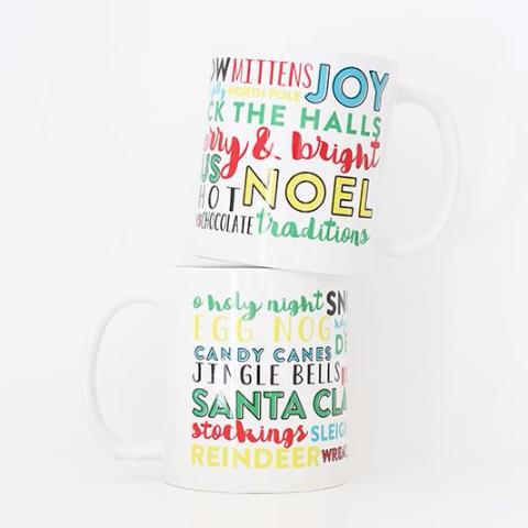 Christmas Season Typography Mug
