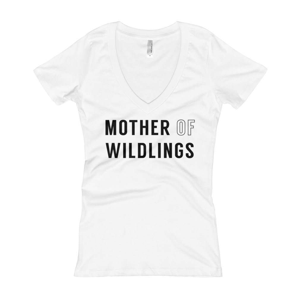 Mother Of Wildlings - Womens V-Neck Tee