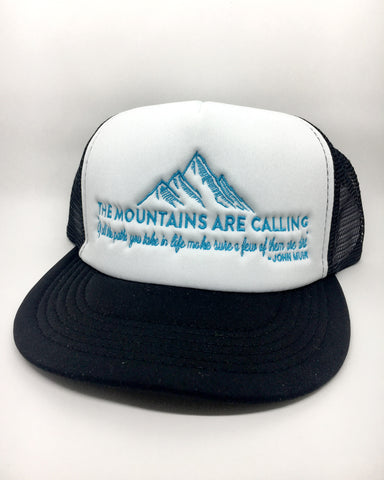 The Mountains Are Calling Trucker Hat