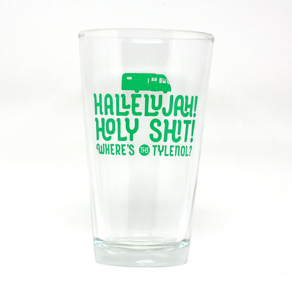 Christmas Vacation Hallelujah Holy Shit Beer Glass