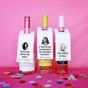 Real Housewives Of Atlanta Wine Tags: Free Printable