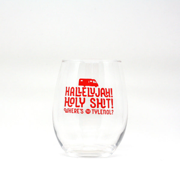 Christmas Vacation Hallelujah Holy Shit Wine Glass