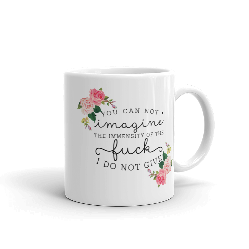 You Cannot Imagine The Immensity Of The F#$% I Do Not Give Mug