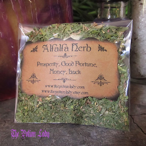 Alfalfa Herb | Purple Medic, Buffalo Herb, Lucerne | Business Success, Prosperity, Good Fortune, Money, Luck
