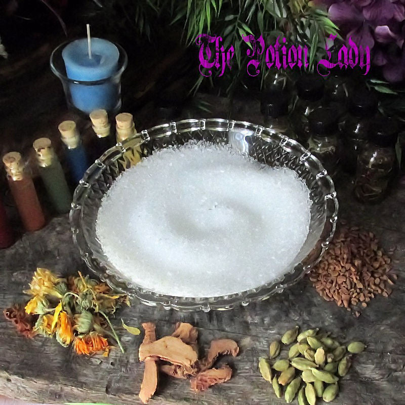 Bayberry Herbal Salts | Money Drawing | The Potion Lady