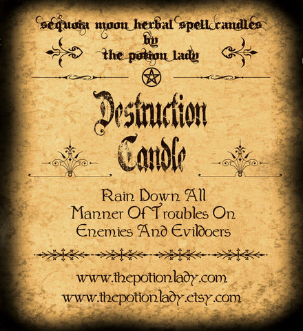 Destruction Candles by The Potion Lady