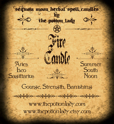 Fire (Elemental) Candles by The Potion Lady