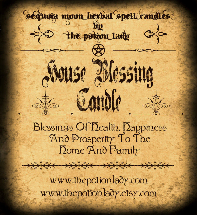 House Blessing Candles by The Potion Lady
