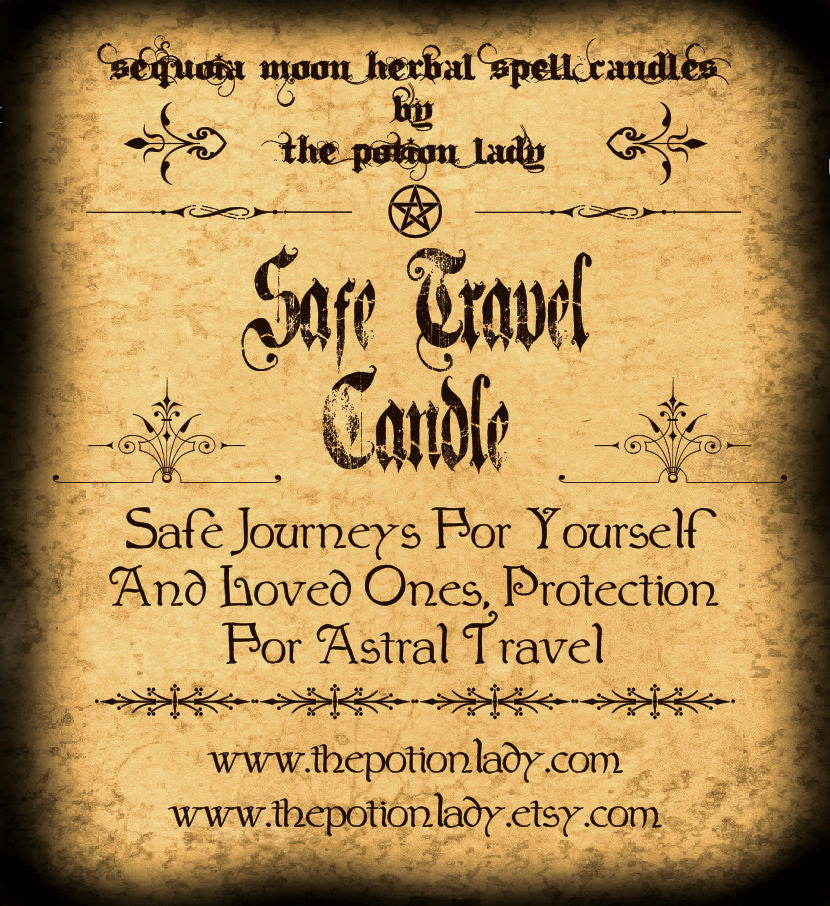 Safe Travel Candles by The Potion Lady