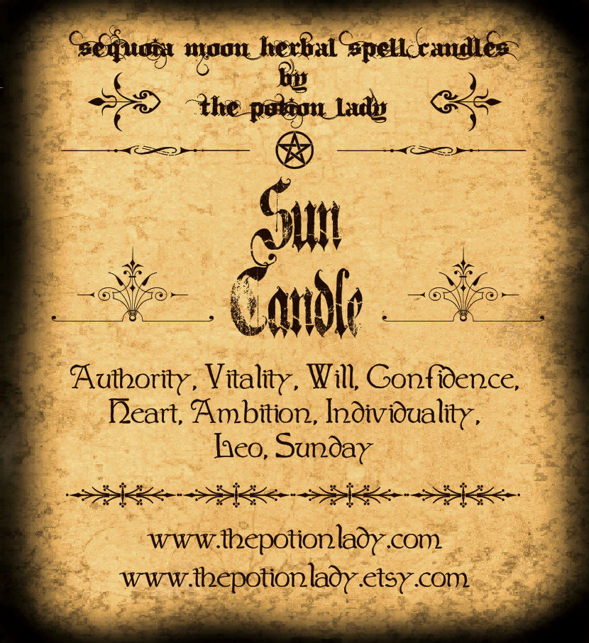 Sun Candle | Authority, Willpower, Confidence, Planetary