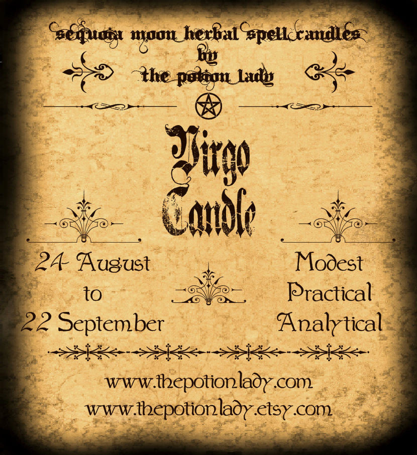 Virgo Candles by The Potion Lady