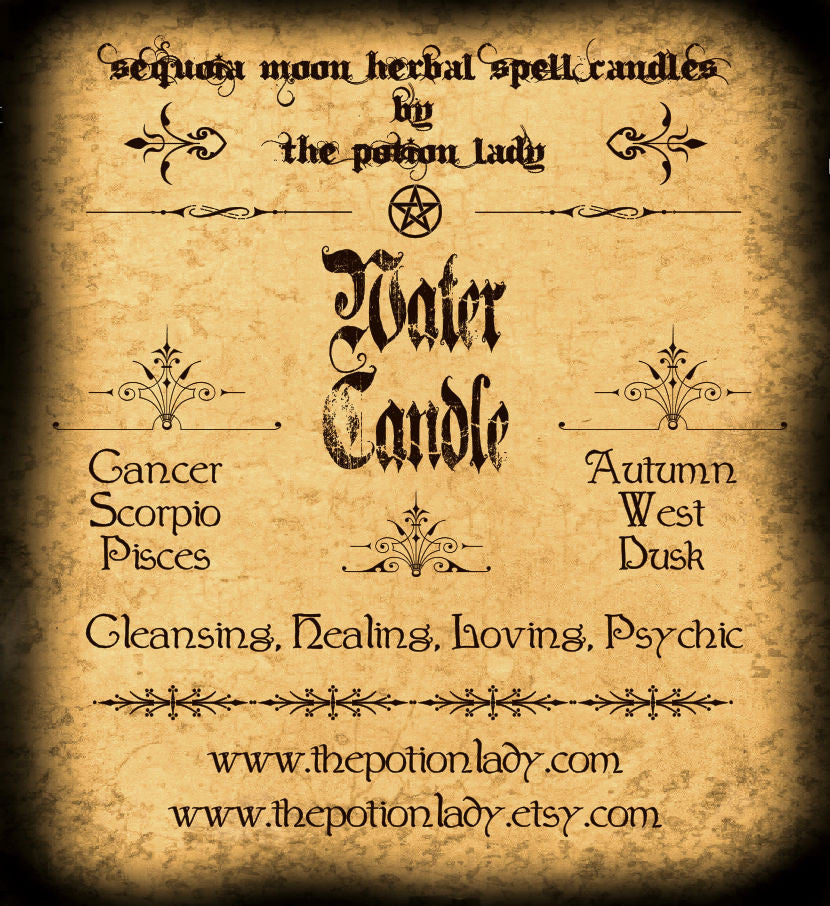 Water (Elemental) Candles by The Potion Lady