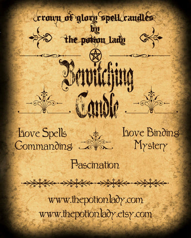 Bewitching Candles by The Potion Lady