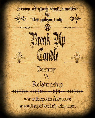 Break Up Candles by The Potion Lady