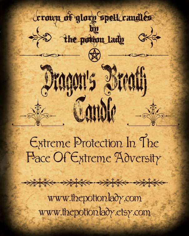 Dragon's Breath Candles by The Potion Lady