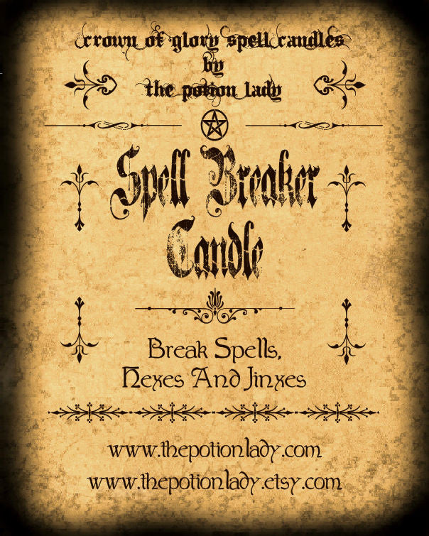Spell Breaker Candles by The Potion Lady