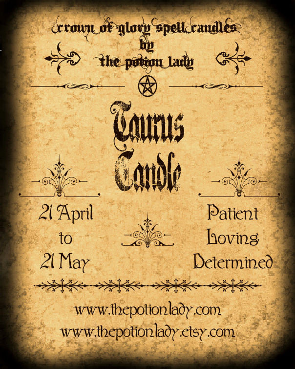 Taurus Candles by The Potion Lady