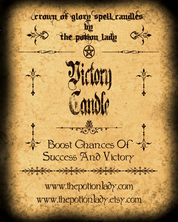 Victory Candles by The Potion Lady
