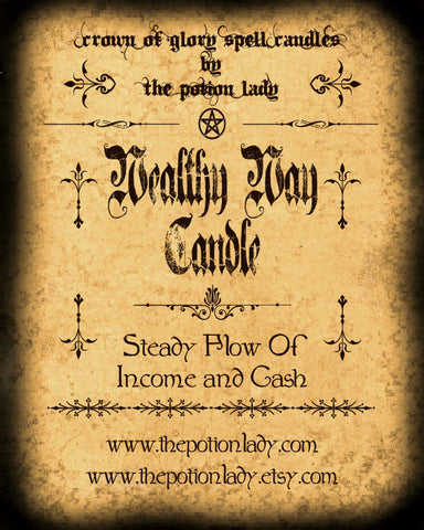 Wealthy Way Candle by The Potion Lady
