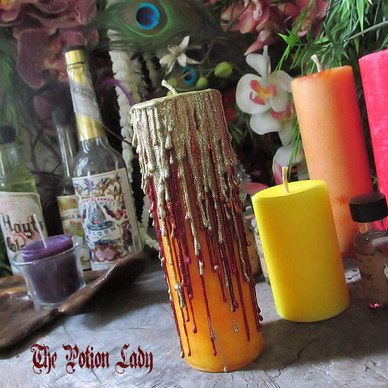 Fiery Wall Of Protection Candles by The Potion Lady
