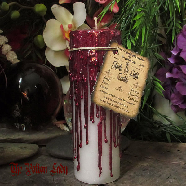 Shield Of Light Candles by The Potion Lady