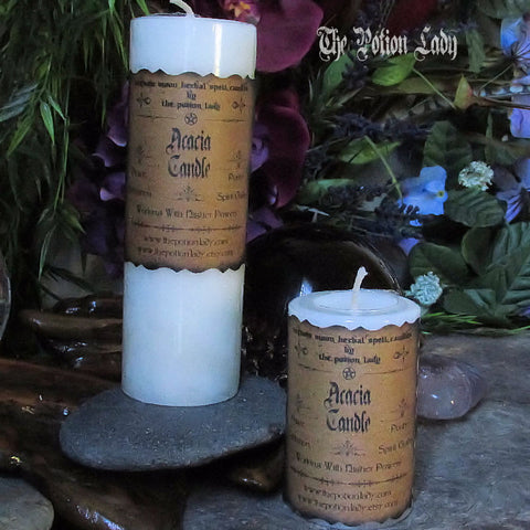 Acacia Candle | Peace, Purity, Higher Powers, Spiritual Enlightenment, Spirit Guides, Meditation