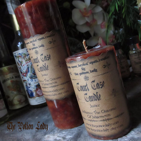 Court Case Candles by The Potion Lady