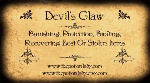 Devil's Claw | Wood Spider, Grapple Plant | Banishing, Protection, Binding