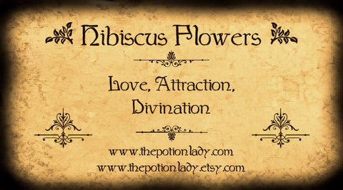 Hibiscus Flowers | Roselle, Jamaica Sorrell | Love, Attraction, Divination