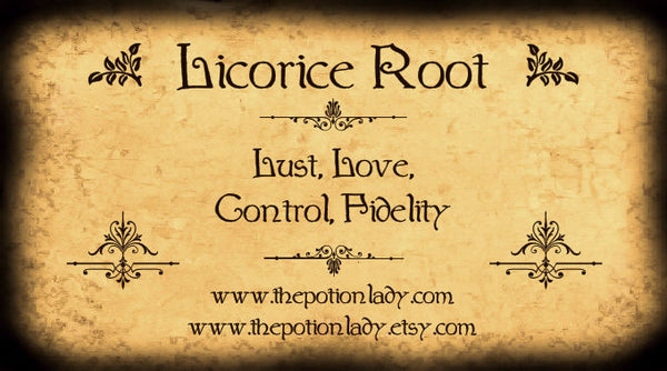Licorice Root | Sweet Root, Black Root | Control, Fidelity, Love, Lust