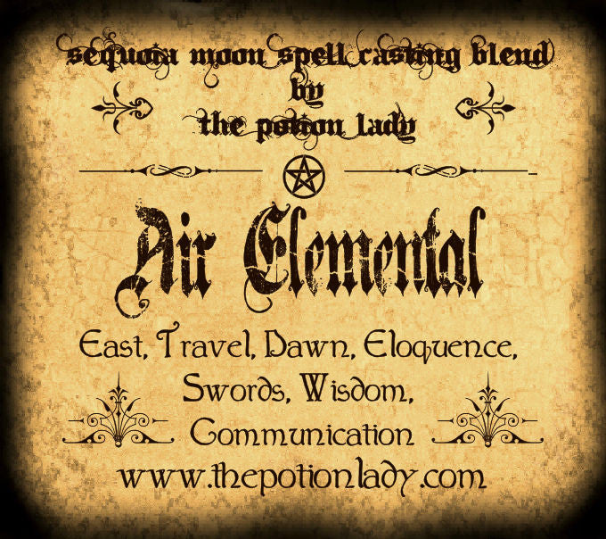 Air (Elemental) Spell Casting Blend | East, Dawn, Swords, Communication, Travel, Eloquence, Wisdom | Wiccan & Spiritual Supplies